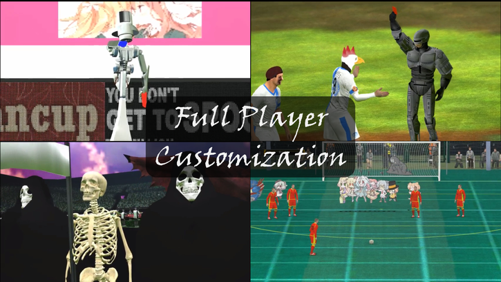Image showing various examples of what can be done thanks to the Full Player Customization system.